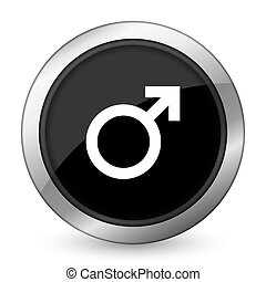 male black icon male gender sign