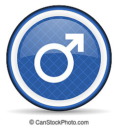 male blue icon male gender sign
