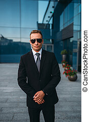 Male bodyguard, politician persons safeguard - Male...