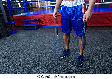 Male boxer legs