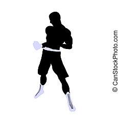 Male Boxng Illustration Silhouette