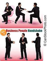 Male Business People Handshake Set 4
