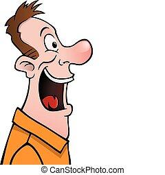 Male cartoon face profile
