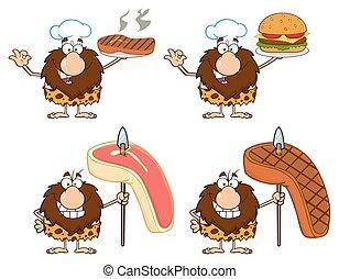 Male Caveman Collection - 4 - Funny Male Caveman Cartoon ...