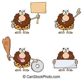 Male Caveman Collection - 8 - Funny Male Caveman Cartoon ...