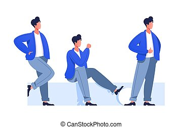 Male characters poses