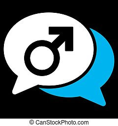 Male Chat Icon