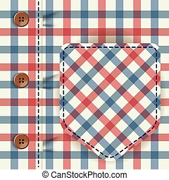 Male checkered shirt background vector design - Male ...