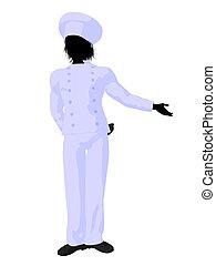 Male Chef Art Illustration Silhouette