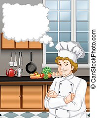Male chef in the kitchen
