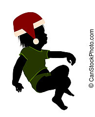 Male Christmas Infant Toddler Illustration Silhouette - Male...
