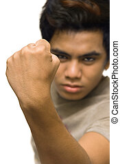 Male clenched closed fist - Masculine clenched closed fist...