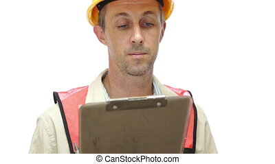 Male Construction Inspector Come He