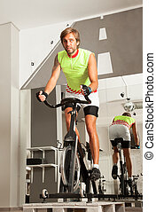 male cycling gym