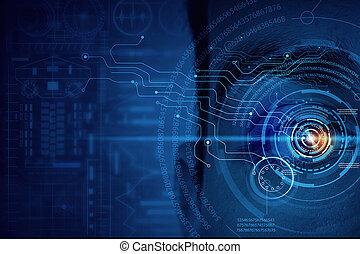 Male digital eye