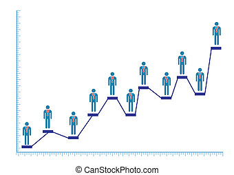 Male Doctor Bar Chart Illustration in Vector