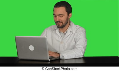 Male doctor discussion with patient on a Green Screen, Chroma Key