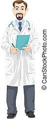 Male Doctor, illustration
