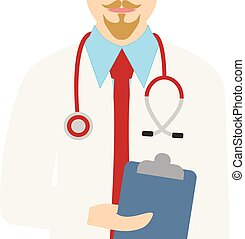 Male doctor. Vector illustration of a doctor