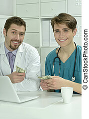 male doctors in medical office