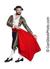 Male dressed as matador