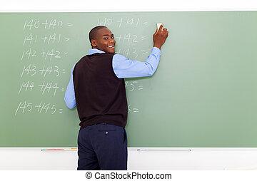 male elementary school teacher - african American male...