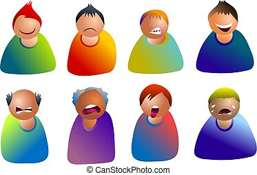 male emoticons - people expressing emotions