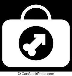 Male Erection Case Icon - Male Erection Case glyph icon....