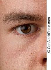 male eye brown