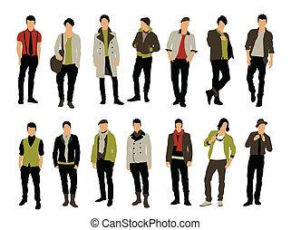 Male fashion vector
