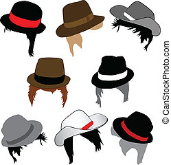 Male fashion - Hairstyles and hats