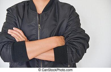 Male fashion on white background.