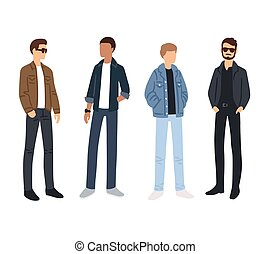 Male fashion sketches