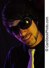 Male fashion sunglasses
