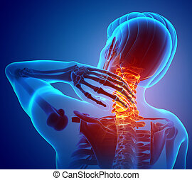 Male Feeling the Neck Pain