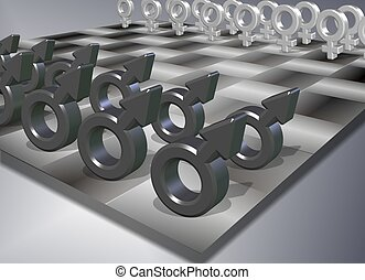 Male female chess