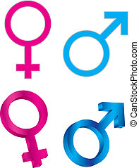Male Female Gender Symbols Illustration