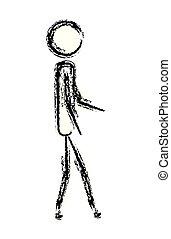 male figure human silhouette
