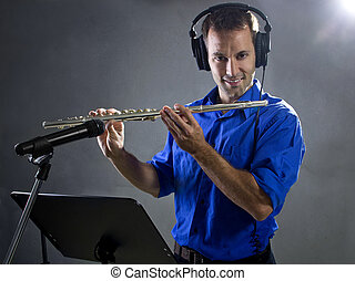 Male Flute Player