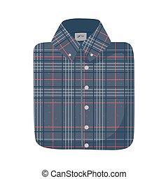 male folded shirt