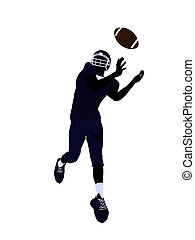 Male Football Player Illustration Silhouette