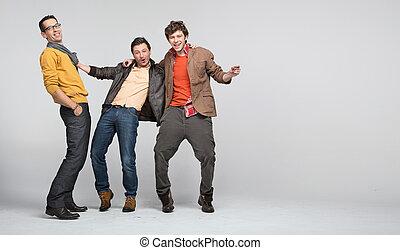 Male friends having fun