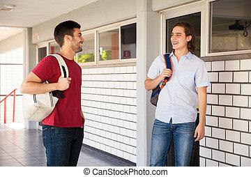 Male friends in college