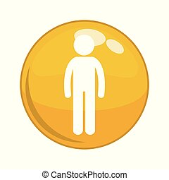 male gender figure button icon