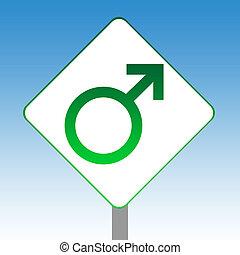 Male gender symbol sign