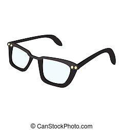 Male glasses cartoon icon