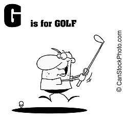 Male Golfer With G Is For Golf Tex