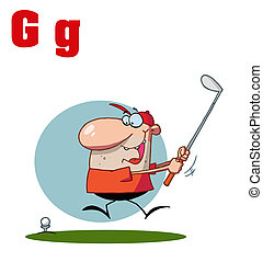 Male Golfer With Letters G