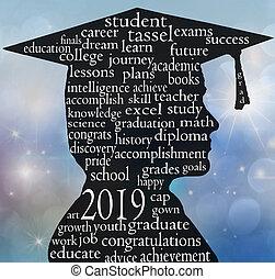 male graduate silhouette for 2019