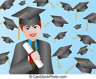 Male Graduation Illustration